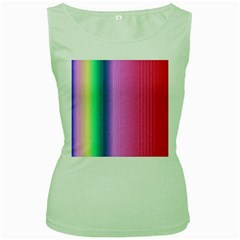 Abstract Paper For Scrapbooking Or Other Project Women s Green Tank Top