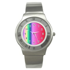 Abstract Paper For Scrapbooking Or Other Project Stainless Steel Watch