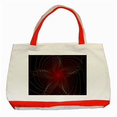 Fractal Red Star Isolated On Black Background Classic Tote Bag (Red)