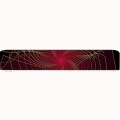 Fractal Red Star Isolated On Black Background Small Bar Mats