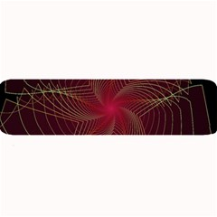 Fractal Red Star Isolated On Black Background Large Bar Mats