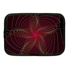 Fractal Red Star Isolated On Black Background Netbook Case (medium)
