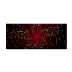 Fractal Red Star Isolated On Black Background Cosmetic Storage Cases