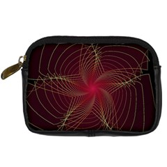 Fractal Red Star Isolated On Black Background Digital Camera Cases