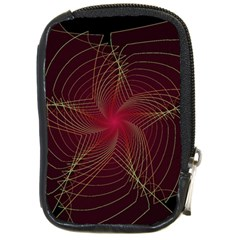 Fractal Red Star Isolated On Black Background Compact Camera Cases