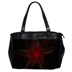 Fractal Red Star Isolated On Black Background Office Handbags