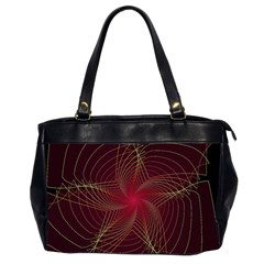 Fractal Red Star Isolated On Black Background Office Handbags (2 Sides)