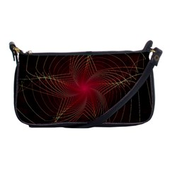 Fractal Red Star Isolated On Black Background Shoulder Clutch Bags