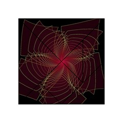 Fractal Red Star Isolated On Black Background Acrylic Tangram Puzzle (4  x 4 )