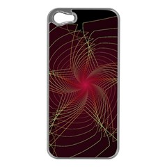 Fractal Red Star Isolated On Black Background Apple Iphone 5 Case (silver)
