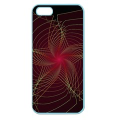 Fractal Red Star Isolated On Black Background Apple Seamless iPhone 5 Case (Color)