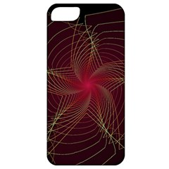 Fractal Red Star Isolated On Black Background Apple Iphone 5 Classic Hardshell Case