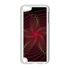 Fractal Red Star Isolated On Black Background Apple iPod Touch 5 Case (White)