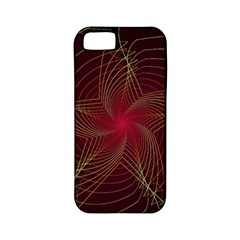 Fractal Red Star Isolated On Black Background Apple Iphone 5 Classic Hardshell Case (pc+silicone)