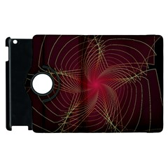 Fractal Red Star Isolated On Black Background Apple Ipad 3/4 Flip 360 Case
