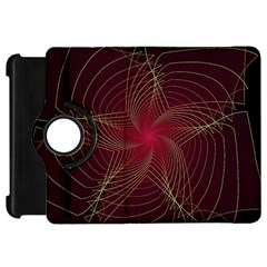 Fractal Red Star Isolated On Black Background Kindle Fire Hd 7
