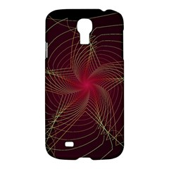 Fractal Red Star Isolated On Black Background Samsung Galaxy S4 I9500/i9505 Hardshell Case