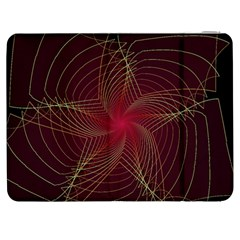 Fractal Red Star Isolated On Black Background Samsung Galaxy Tab 7  P1000 Flip Case