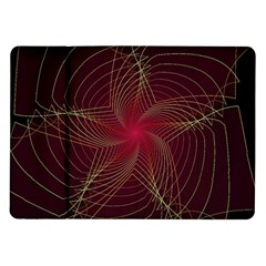 Fractal Red Star Isolated On Black Background Samsung Galaxy Tab 10.1  P7500 Flip Case