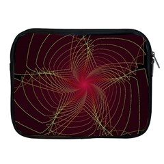 Fractal Red Star Isolated On Black Background Apple Ipad 2/3/4 Zipper Cases
