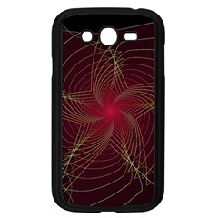 Fractal Red Star Isolated On Black Background Samsung Galaxy Grand Duos I9082 Case (black)