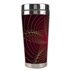 Fractal Red Star Isolated On Black Background Stainless Steel Travel Tumblers