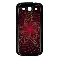 Fractal Red Star Isolated On Black Background Samsung Galaxy S3 Back Case (Black)