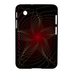 Fractal Red Star Isolated On Black Background Samsung Galaxy Tab 2 (7 ) P3100 Hardshell Case