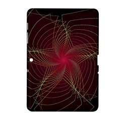 Fractal Red Star Isolated On Black Background Samsung Galaxy Tab 2 (10 1 ) P5100 Hardshell Case