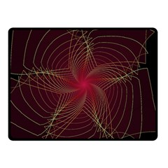 Fractal Red Star Isolated On Black Background Double Sided Fleece Blanket (small)