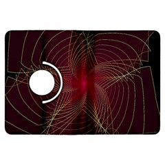 Fractal Red Star Isolated On Black Background Kindle Fire HDX Flip 360 Case