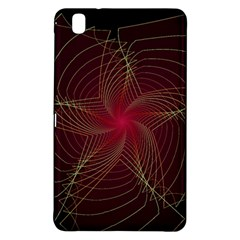 Fractal Red Star Isolated On Black Background Samsung Galaxy Tab Pro 8 4 Hardshell Case