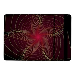 Fractal Red Star Isolated On Black Background Samsung Galaxy Tab Pro 10.1  Flip Case