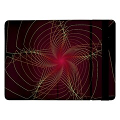 Fractal Red Star Isolated On Black Background Samsung Galaxy Tab Pro 12 2  Flip Case