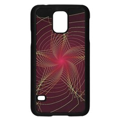 Fractal Red Star Isolated On Black Background Samsung Galaxy S5 Case (black)