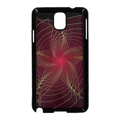 Fractal Red Star Isolated On Black Background Samsung Galaxy Note 3 Neo Hardshell Case (black)