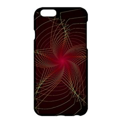 Fractal Red Star Isolated On Black Background Apple Iphone 6 Plus/6s Plus Hardshell Case
