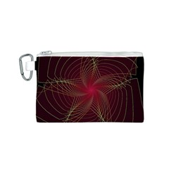 Fractal Red Star Isolated On Black Background Canvas Cosmetic Bag (S)