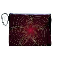 Fractal Red Star Isolated On Black Background Canvas Cosmetic Bag (XL)