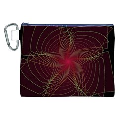 Fractal Red Star Isolated On Black Background Canvas Cosmetic Bag (XXL)