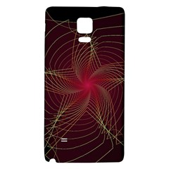 Fractal Red Star Isolated On Black Background Galaxy Note 4 Back Case