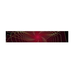 Fractal Red Star Isolated On Black Background Flano Scarf (Mini)