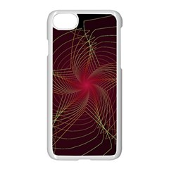 Fractal Red Star Isolated On Black Background Apple Iphone 7 Seamless Case (white)