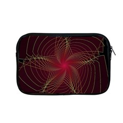 Fractal Red Star Isolated On Black Background Apple Macbook Pro 13  Zipper Case