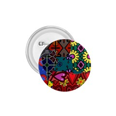 Digitally Created Abstract Patchwork Collage Pattern 1.75  Buttons