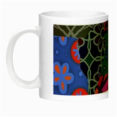 Digitally Created Abstract Patchwork Collage Pattern Night Luminous Mugs