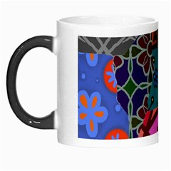 Digitally Created Abstract Patchwork Collage Pattern Morph Mugs