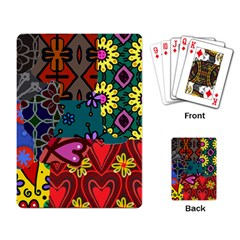 Digitally Created Abstract Patchwork Collage Pattern Playing Card