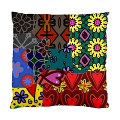 Digitally Created Abstract Patchwork Collage Pattern Standard Cushion Case (one Side)