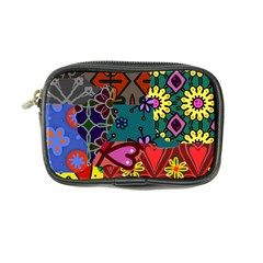 Digitally Created Abstract Patchwork Collage Pattern Coin Purse